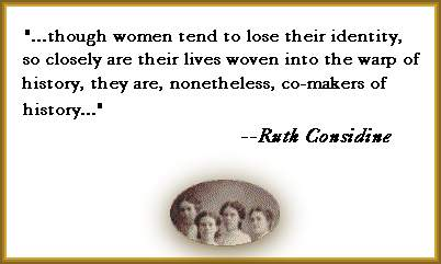 Quote from Ruth Considine's article, with cameo of young smiling women, circa 1880s